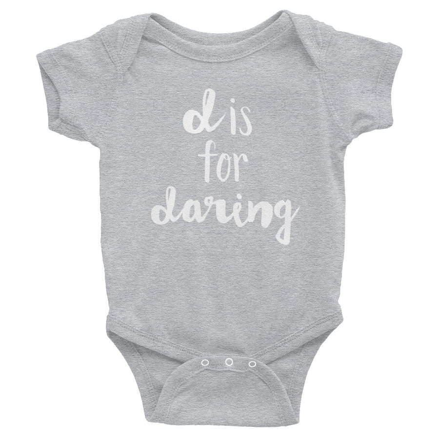 """D is for Daring"" Baby Onesie (More Options)"
