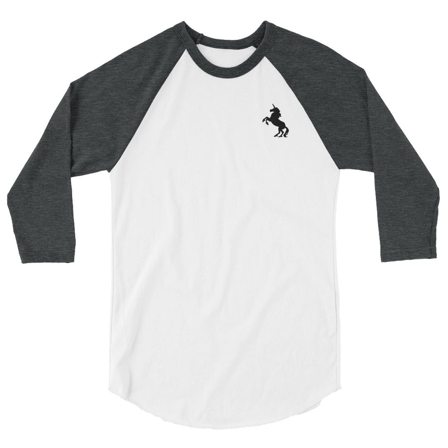 """Itty Bitty Unicorn"" 3/4 Sleeve Raglan Tee (More Options)"