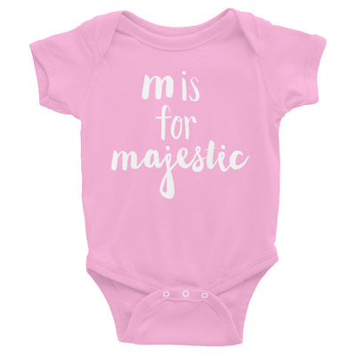 """M is for Majestic"" Baby Onesie (More Options)"