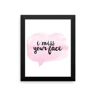 """Miss Yo Face"" Framed Poster (More Options)"
