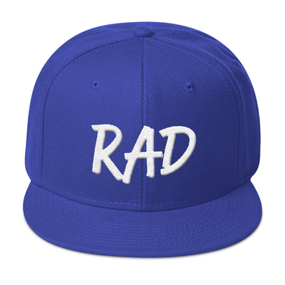"""Rad"" 3D Puff Snapback Solid Color Hat (More Options)"