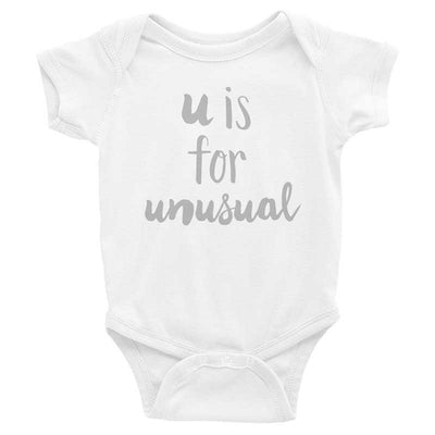 """U is for Unusual"" Baby Onesie (More Options)"