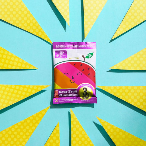 Project 7 Sour Fruit Gummies | growthbuster