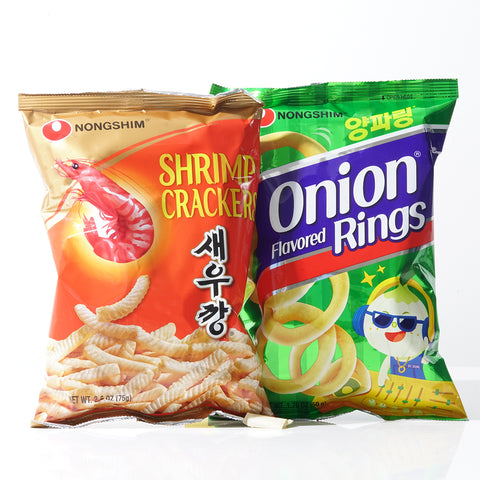 Nongshim Shrimp Crackers Chips Onion Rings
