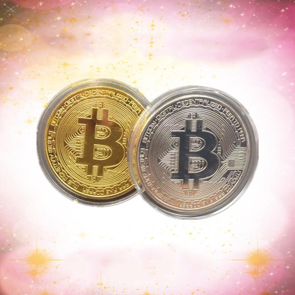 1 PCS Silver/Gold Plated Bitcoin Coins Commemorative Coins - Cryptocurrency Swag