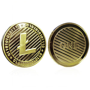 NEW Litecoin Gold-Plated Cryptocurrency Collection Commemorative Lite Coins Gold Silver Color LTC Peer-to-peer Coins Dia 40mm - Cryptocurrency Swag