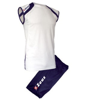 Mens Playing Kit Fly - White with Navy Trim