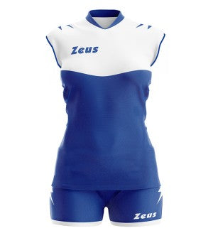 Women Playing Kit Sara - Electric Blue with White Trim