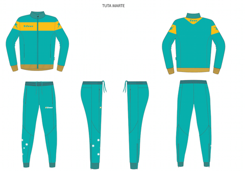Players and Coaches Official Australian Tracksuit - Tuta Marte