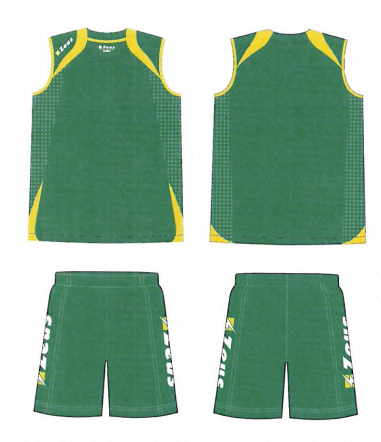 Mens Playing Kit Fly - Green, with Gold Trim