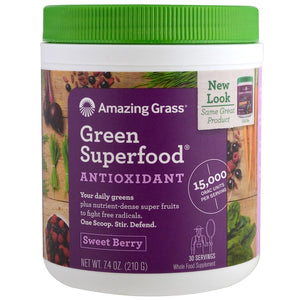 Amazing Grass - Green Superfood Drinking Powder (Sweet Berry) (210 g) 超級蔬果抗氧化鹼性綠粉