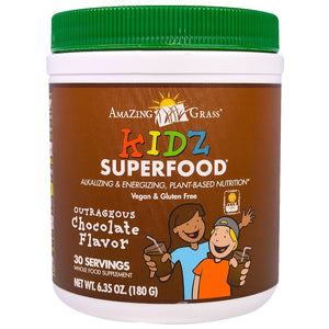 Amazing Grass - Kidz Superfood Drinking Powder (Outrageous Chocolate) (180 g) 小孩超級蔬果鹼性綠粉