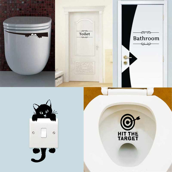 3D Vinyl Bathroom Stickers