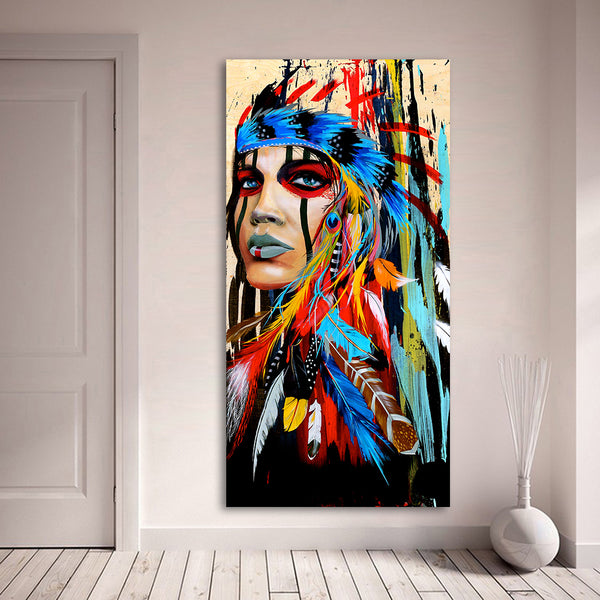 Oil Painting Portrait of a Native American Woman