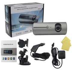 Full HD 720P 140 Degree Wide Angle Dual Lens Car Dashboard Camera