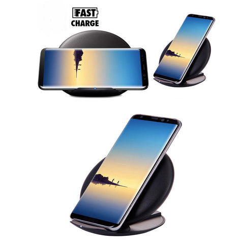 Foldable Qi Wireless Fast Charger Quick Pad For Samsung Galaxy Phones