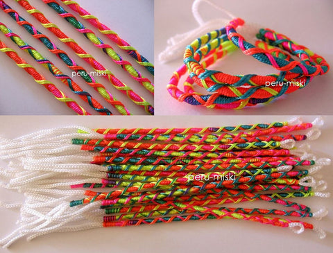 100 Neon Friendship Bracelets, Criss Cross