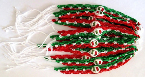 50 Italy Flag Friendship Bracelets