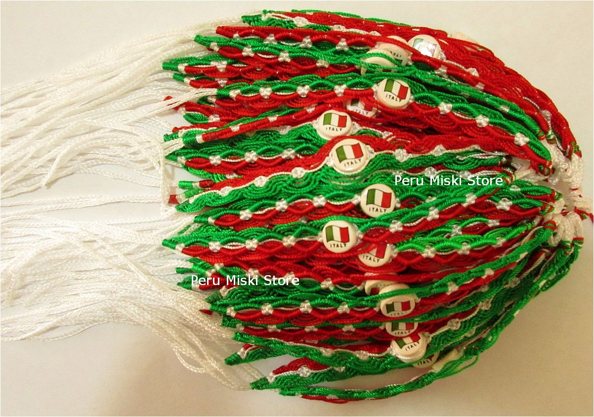 Italy Flag Friendship Bracelets