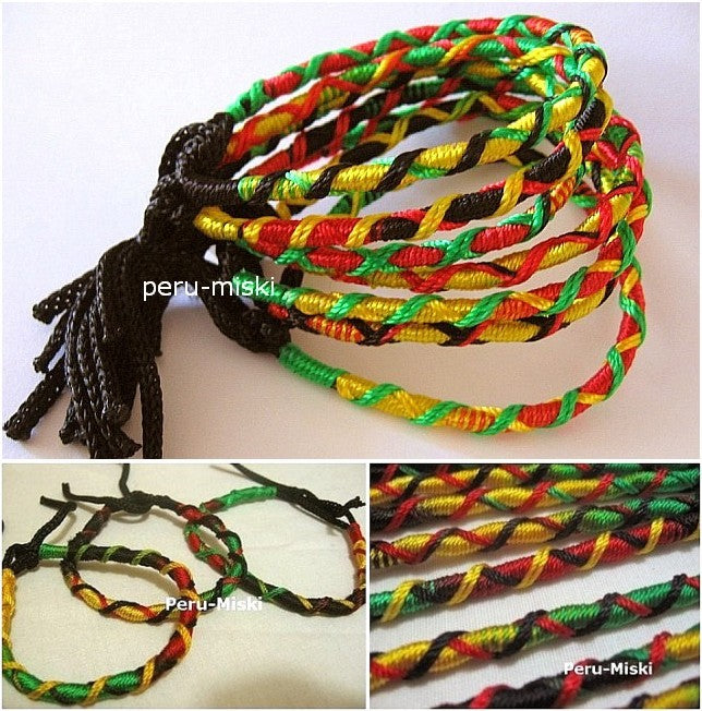 100 Rasta Friendship Bracelets Criss Cross