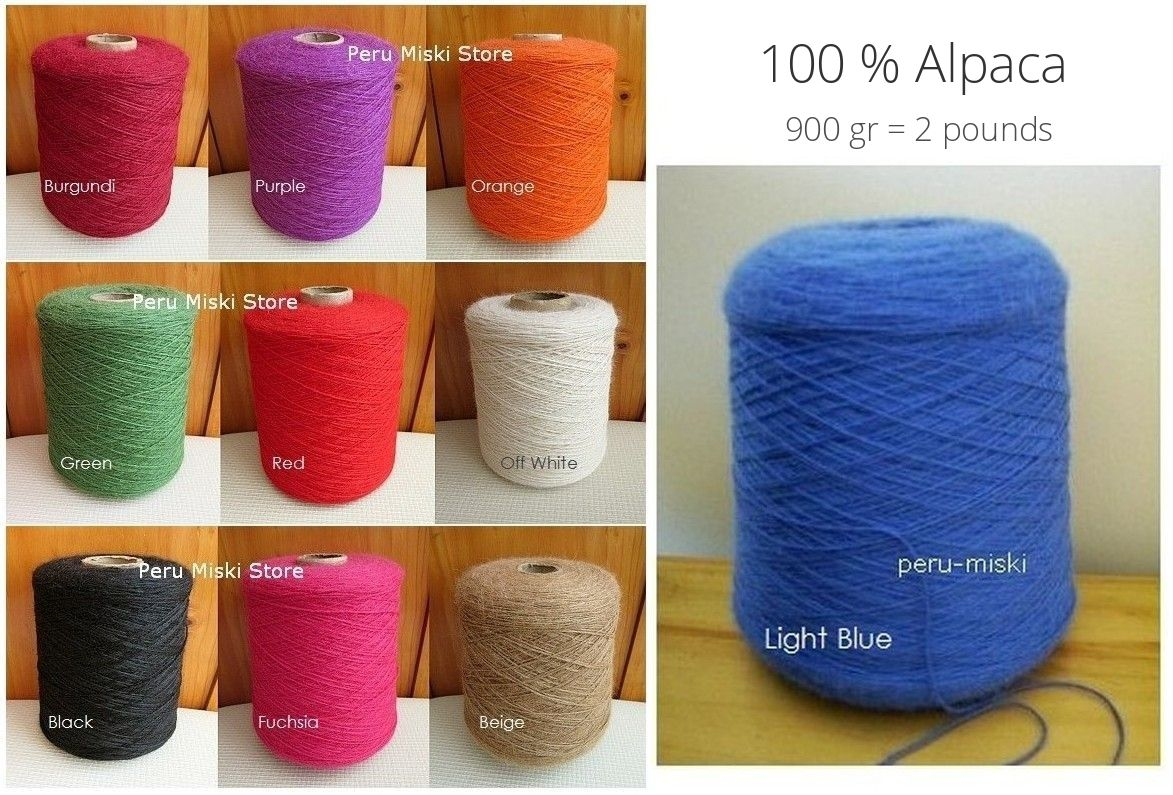 100% Alpaca Yarn from Peru