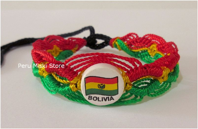 Bolivia flag friendship bracelets