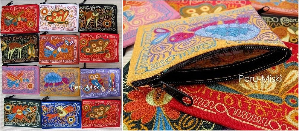 100 Coin Purses, Embroidered, from Arequipa - Peru