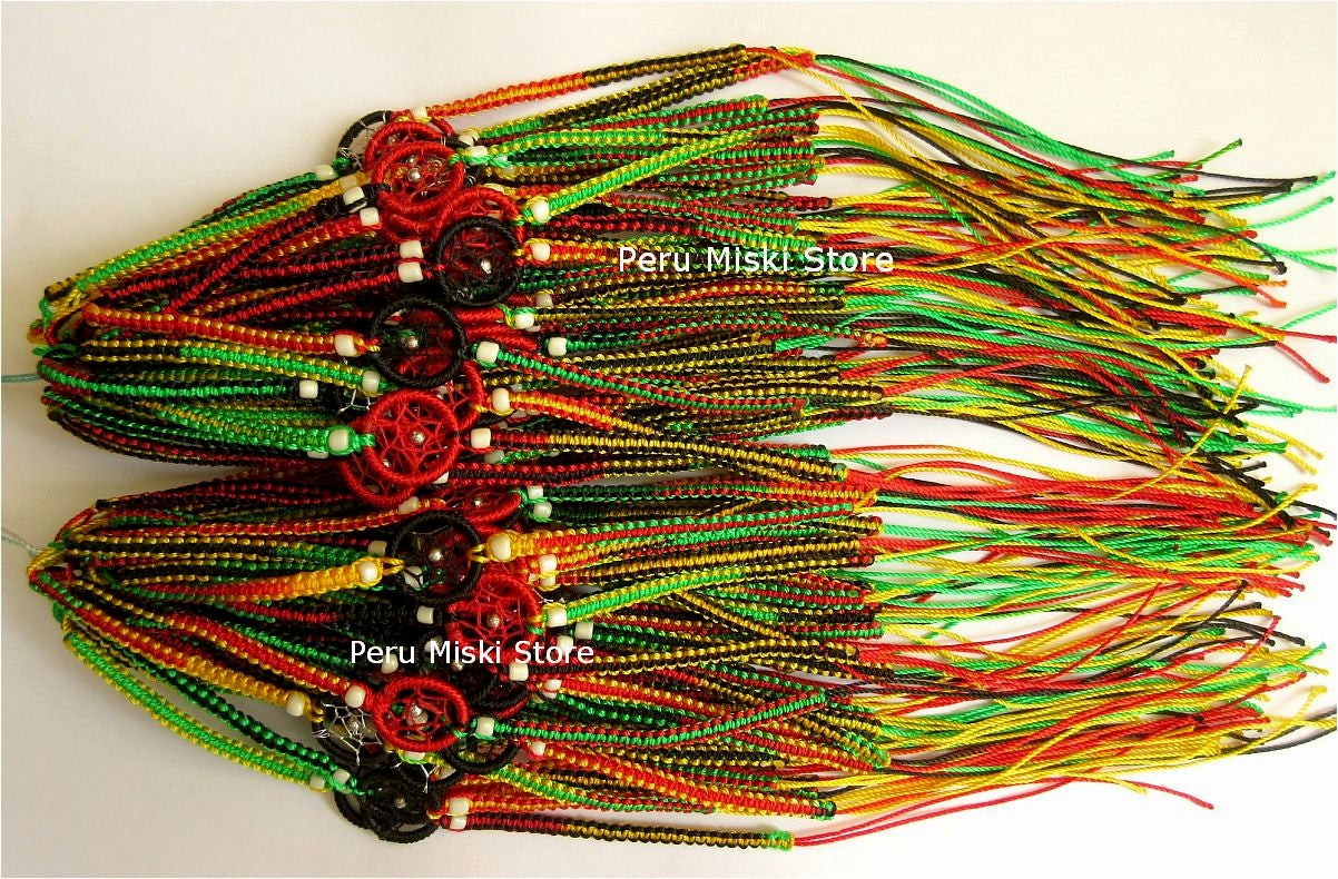 Rasta Friendship Bracelets Dreamcatchers