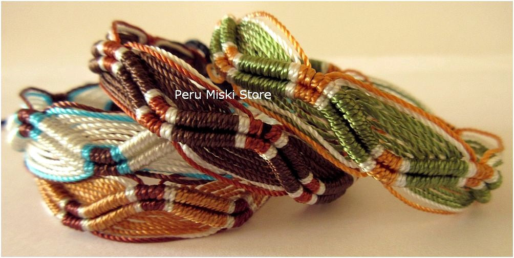 Friendship Bracelets Zigzag, Earth Natural Surf Colors
