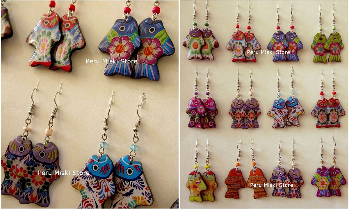 earrings, Colorful Fish