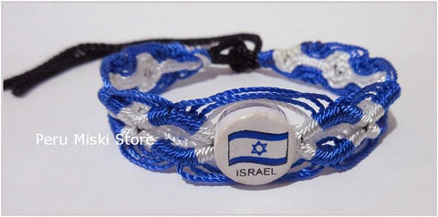 50 Israel Flag Friendship Bracelets