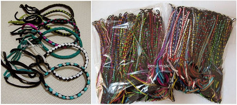 100 Leather Friendship Bracelets, Braided