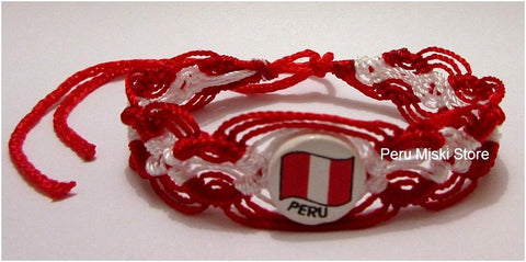 50 Peru Flag Friendship Bracelets