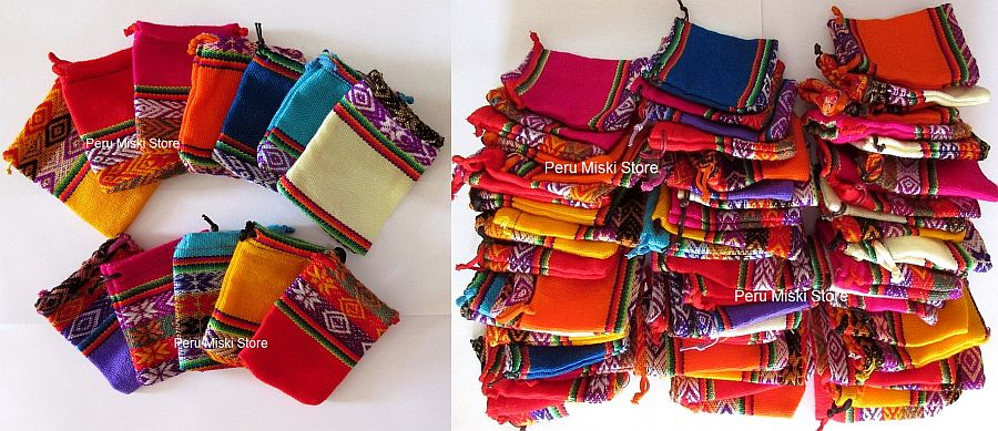 20 Jewelry pouches from Peru - Very colorful
