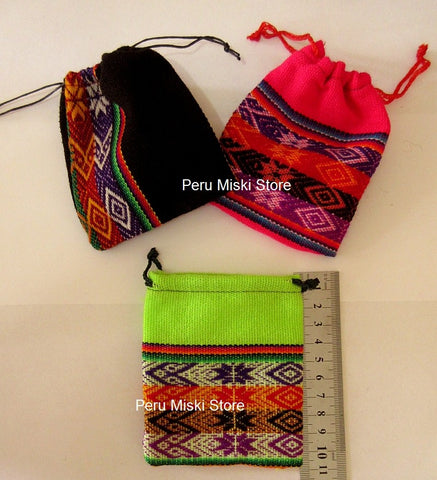 150 Jewelry pouches from Peru, medium - Very colorful