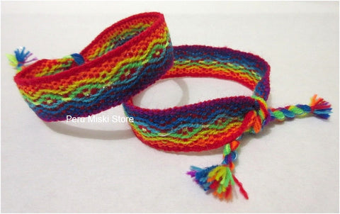 100 Friendship Bracelets Rainbow - Ribbons