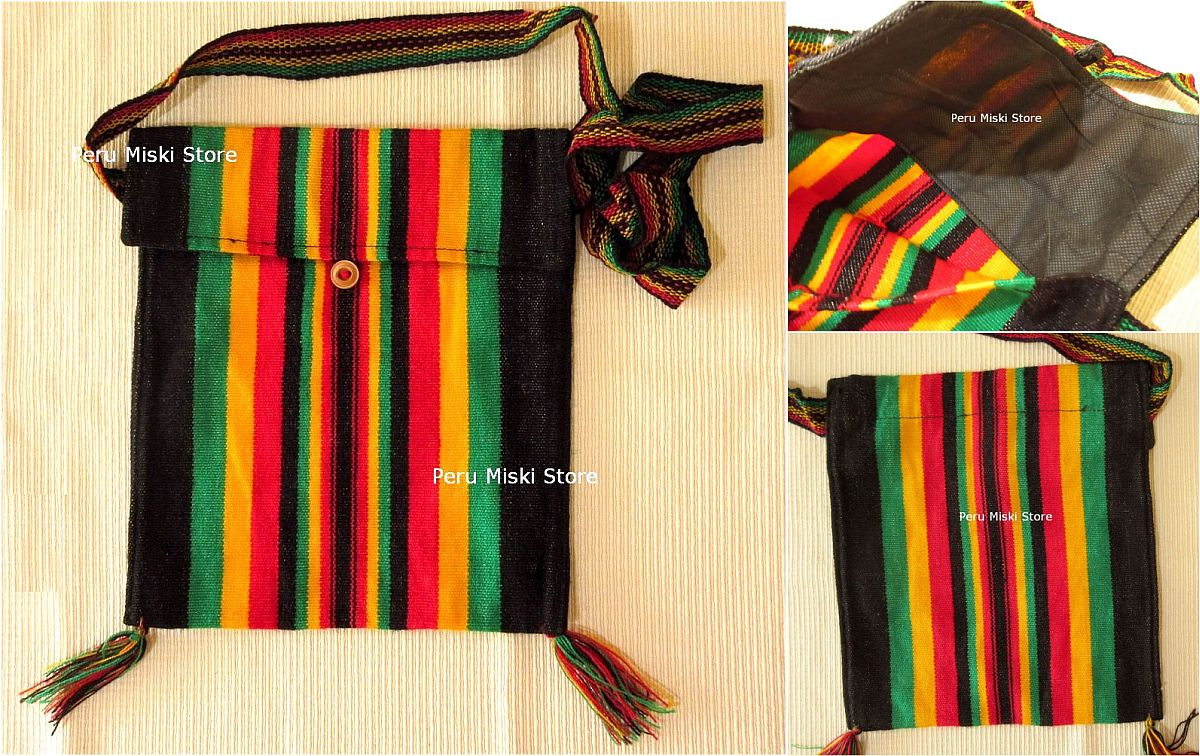 26 Stripes Rasta Shoulder Bags - Messenger bags