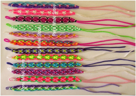 80 lot Friendship Bracelets Rhombus Knot