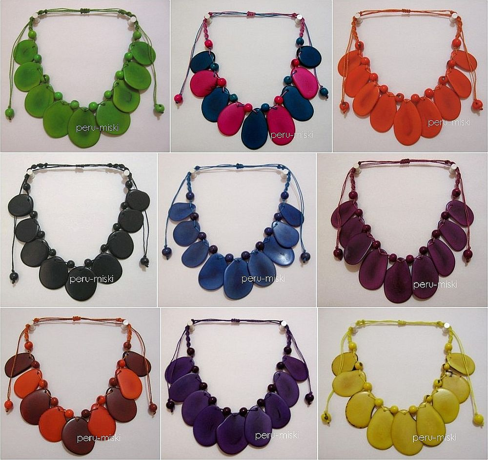 Tagua Necklaces - Round beads