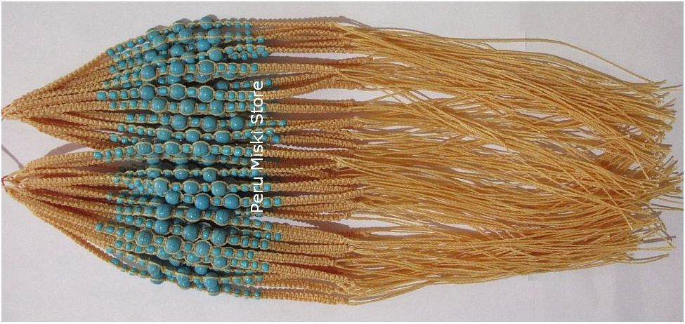 Bracelets or Anklets - waxed thread and turquoise beads