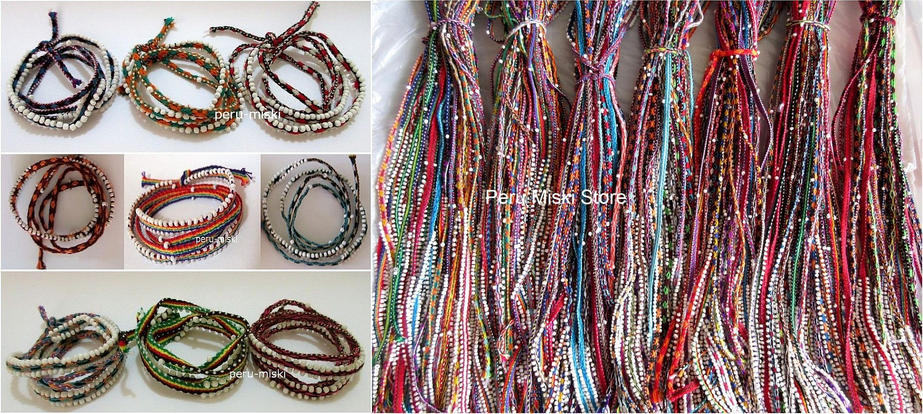100 Wrap Friendship Bracelets, Watana, from Cusco, Cuzco