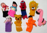 Finger Puppets, handmade in acrylic wool