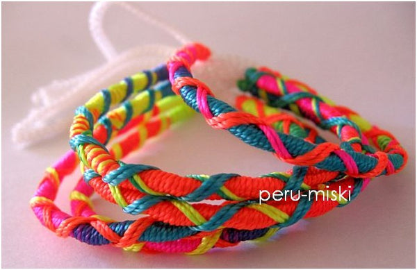 1000 Neon Friendship Bracelets, Criss Cross