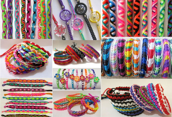 Friendship Bracelets, Mixed Lot, 10 designs