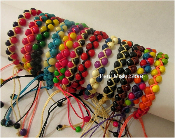 40 Bracelets with Achira Seeds, Ethnic