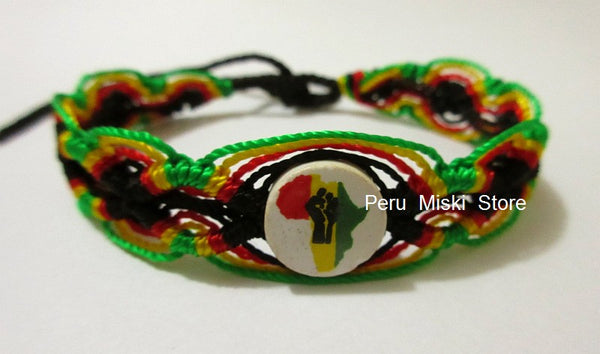 50 Africa Power Rasta Flag Friendship Bracelets
