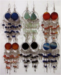 Agate Earrings, Handcrafted in Alpaca Silver