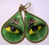 Thread Earrings, Stamped, Brasil, Brazil design