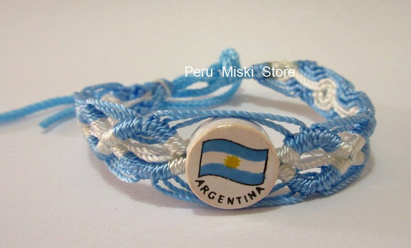 50 Argentina Flag Friendship Bracelets