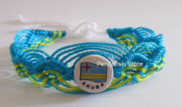 50 Aruba Flag Friendship Bracelets